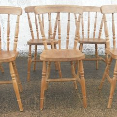 Windsor Kitchen Chairs Folding Cushion Chair Sold Set Of Six Antique Victorian Style Beech Stickback Dining